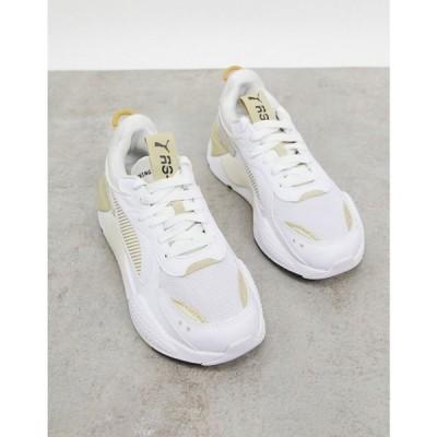 プーマ Puma レディース スニーカー シューズ・靴 Rs-X3 Trainers In White And Gold ホワイト