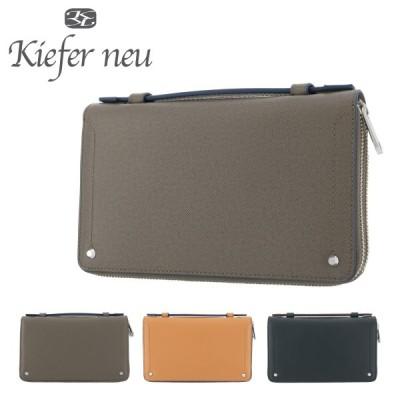 キーファーノイ セカンドバッグ ソッティーレ メンズ  KFN8004S Kiefer neu   レザー ラウンドファスナー ビジネスバッグ オーガナイザー 札入れ 牛革 [PO10]