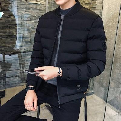 ジャケット メンズ おしゃれ 中綿ジャケット アウター 中学生 高校生 10代 20代 ジャンパー 大きいサイズ 韓国ファッション 黒 ブラック 3301