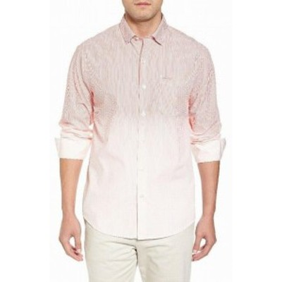 Tommy Bahama トミーバハマ ファッション アウター Tommy Bahama Mens Shirt Pink Size 3XL Striped Ombre Pocket Button Up
