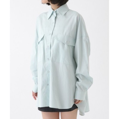 シャツ ブラウス LADY VOLUME/オーバーフィットBIGポケットボクシーシャツ 2921372