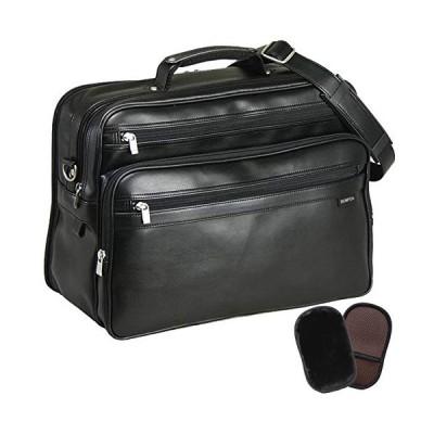 平野鞄 豊岡職人の技 国産 ショルダーバッグ メンズ 斜めがけ 通勤 横型 ビジネス B4 軽量 40cm +オリジナル高級ムートングローブ