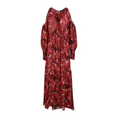 ANTONELLI ロングワンピース&ドレス ボルドー 40 レーヨン 100% ロングワンピース&ドレス