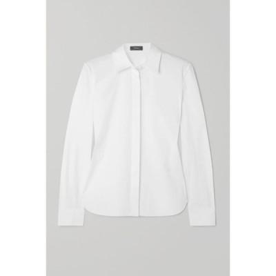 セオリー Theory レディース ブラウス・シャツ トップス Cotton-blend shirt