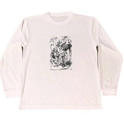 テニエル 不思議の国のアリス ドライ Tシャツ  グッズ イラスト ロングTシャツ ロンT
