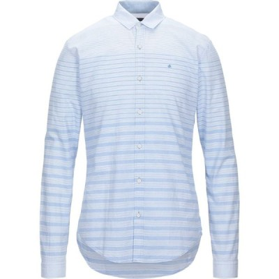 カルバンクライン CALVIN KLEIN JEANS メンズ シャツ トップス Striped Shirt Sky blue