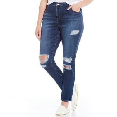 リーバイス レディース デニムパンツ ボトムス Levi'sR Plus Size 721 High Rise Distressed Skinny Jeans