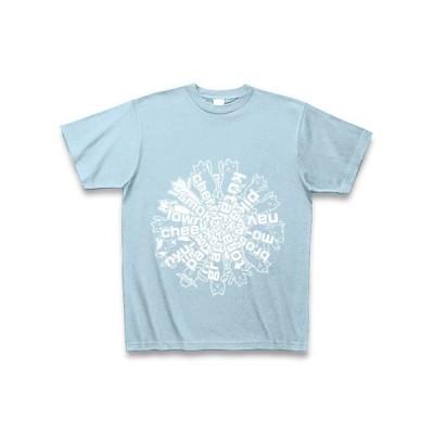 クター[F] Tシャツ Pure Color Print(ライトブルー)