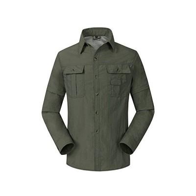 (フロラン)Froyland ミリタリーシャツ メンズ アウトドア 登山 トレッキング スポーツウェア コンバーチブル 半?