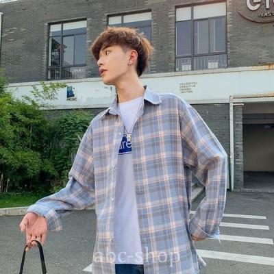 デザインシャツモード系韓流韓国ファッションメンズサロン系原宿系韓国系メンズボタンダウン半袖