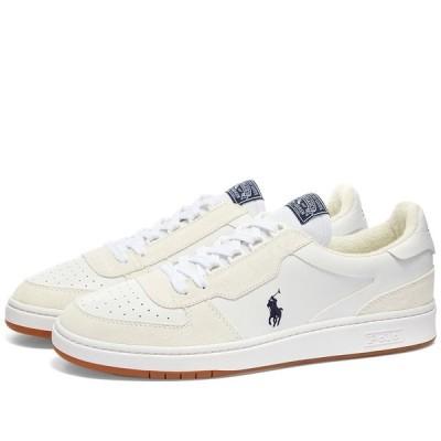 ラルフ ローレン Polo Ralph Lauren メンズ スニーカー シューズ・靴 Retro Court Sneaker White/Navy Pony Player