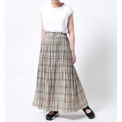 【ビショップ/Bshop】 【LE GLAZIK】ローンチェックプリーツスカート WOMEN