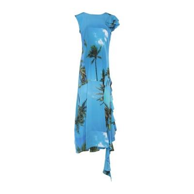 ナターシャ・ジンコ NATASHA ZINKO ロングワンピース&ドレス ブルー 36 シルク 100% ロングワンピース&ドレス