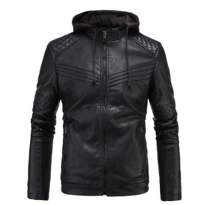 メンズレザージャケット ライダースジャケット 裏起毛  ジャンパー ブルゾン 厚手 XL~3XL