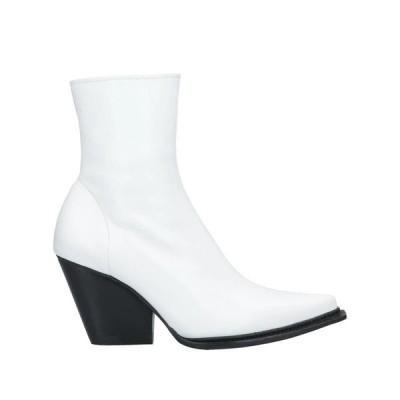 JEFFREY CAMPBELL ウエスタンショートブーツ ファッション  レディースファッション  レディースシューズ  ブーツ  その他ブーツ ホワイト