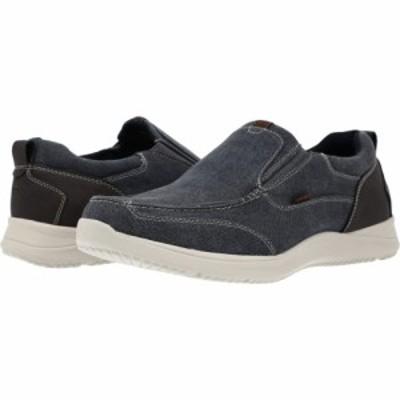 ナンブッシュ Nunn Bush メンズ スリッポン・フラット シューズ・靴 Conway Canvas Moc Toe Slip-On Dark Blue