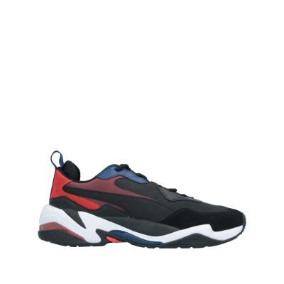 プーマ PUMA スニーカー&テニスシューズ(ローカット) ブラック 7 革 / 紡績繊維 スニーカー&テニスシューズ(ローカット)