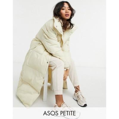 エイソス ASOS Petite レディース ダウン・中綿ジャケット アウター Asos Design Petite Luxe Puffer Maxi Coat In Cream クリーム