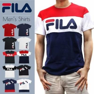 FILA フィラ Tシャツ メンズ 半袖 かっこいい 吸水速乾 スポーツ ブランド 人気 半袖シャツ おしゃれ 白 ホワイト 黒 ブラック outfit