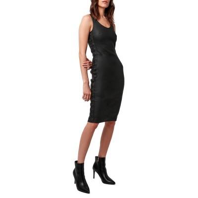 エーエスバイディーエフ レディース ワンピース トップス Dita Stretch Leather Lace-Up Dress