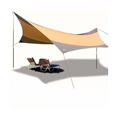 タープ テント サンシェルター テント シェード キャンプ アウトドア 超広いタープ サンシェー550*560cm 日除け