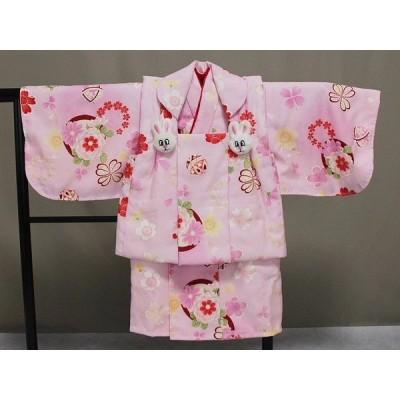 一つ身 初節句 赤ちゃん着物 日本製 手縫いの一つ身 ベビー用着物と被布コート 当店オリジナル着物と被布 B0001-13