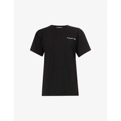ヘルムート ラング HELMUT LANG レディース Tシャツ トップス Logo-print cotton-jersey T-shirt BLACK