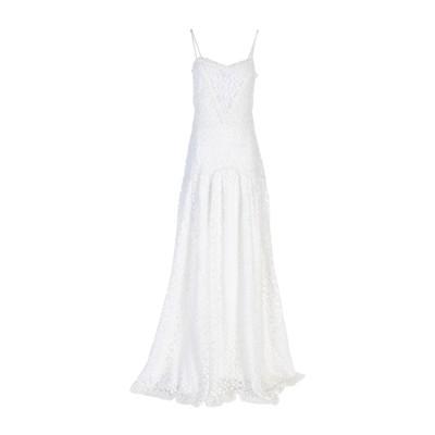 ピッチョーネ・ピッチョーネ PICCIONE.PICCIONE ロングワンピース&ドレス ホワイト 40 アセテート 75% / シルク 25% /
