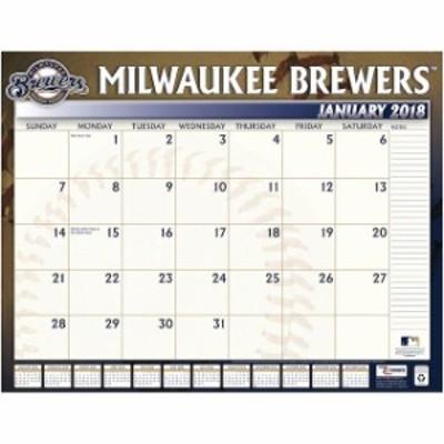 John F. Turner ジョン エフ ターナー スポーツ用品  Milwaukee Brewers 2018 22 x 17 Desk Calendar