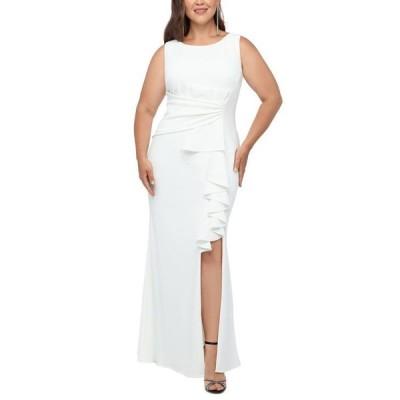 ベッツィアンドアダム レディース ワンピース トップス Plus Size Bow-Detail Gown