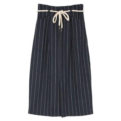 ユアーズ ur's ストライプタイトスカート (ネイビー)