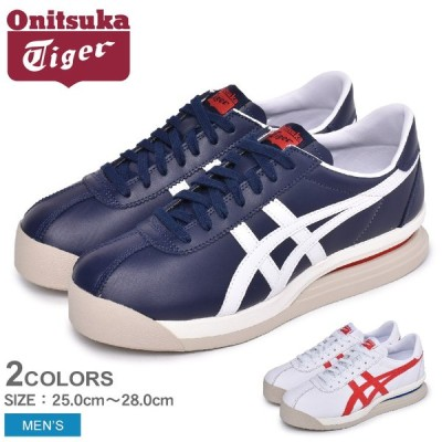 オニツカタイガー スニーカー メンズ タイガー コルセア EX ONITSUKA TIGER 1183A561 ホワイト 白 ネイビー 靴 シューズ 通勤 ブランド