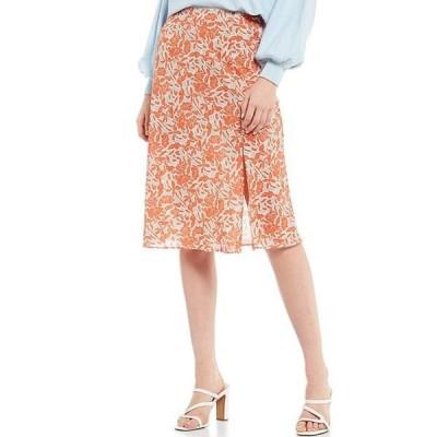 ルーシーパリ レディース スカート ボトムス Lanie Floral Print Front Slit Skirt