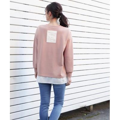 (Honeys/ハニーズ)裾レイヤードプルオーバー/レディース ピンク