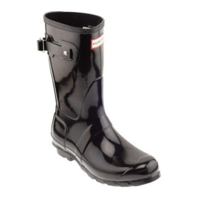 ハンター スニーカー シューズ レディース Original Short Gloss Rain Boot (Women's) Black