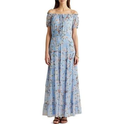 ラルフローレン レディース ワンピース トップス Floral Tiered Georgette Dress