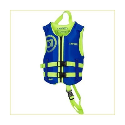O'Brien Child Neoprene Life Jacket, 35-55lbs, Blue/Green