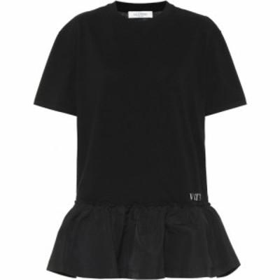 ヴァレンティノ Valentino レディース ワンピース ワンピース・ドレス cotton jersey and taffeta minidress Black/White