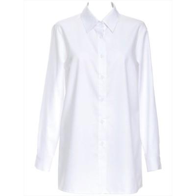 ブラウス 長袖 レディース Li-fin リフィン YR-438 ホワイト 5号〜17号 日本製生地、国内縫製