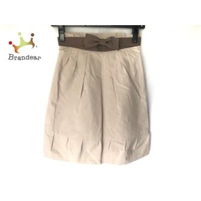 アプワイザーリッシェ スカート サイズ0 XS レディース 美品 ベージュ×ダークグレー     スペシャル特価 20200509