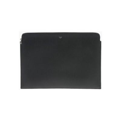 CELINE/セリーヌ Black メンズ Leather Document Holder with Zip Closure dk