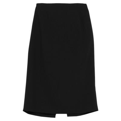 ディアナ ガッレージ DIANA GALLESI ひざ丈スカート ブラック 46 ポリエステル 100% ひざ丈スカート