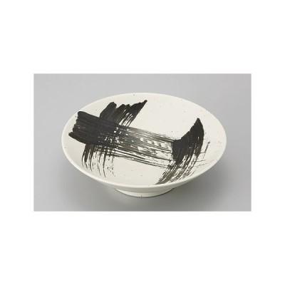 パスタ皿 カレー皿 鉢 ボウル めん鉢 粉引黒刷毛目8.0麺鉢 おしゃれ 業務用 美濃焼 9a472-11-34g