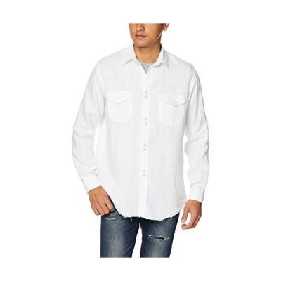 [エストネーション] MARGO YOOMO ウォッシュ加工デニムシャツ メンズ S ホワイト