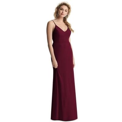 アフターシックス ワンピース トップス レディース Draped-Back Sleeveless Gown Cabernet Red