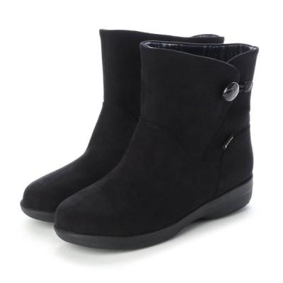 定価20,900円 madras Walk MWL2109 マドラスウォーク ゴアテックス GORE-TEX レディース ショートブーツ 幅広 防滑ソール 透湿防水 婦人 靴 ブラック