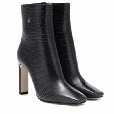 ジミー チュウ Jimmy Choo レディース ブーツ シューズ・靴 Minori 100 mock-croc leather boots Dusk