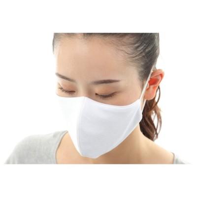 紫外線対策 男女兼用 洗えるマスク 送料無料 やわらか伸縮コットン/ポリエステル素材 大人普通/こども用M 3枚入り 抗菌加工 ホワイト色 正規販売品