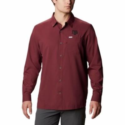コロンビア Columbia メンズ シャツ トップス Texas AandM Aggies Maroon Slack Tide Long Sleeve Button-Down Shirt