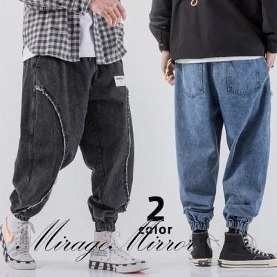ジーンズ メンズ デニムパンツ  無地 ロングパンツ ワイドパンツ ファッション ボトムス ヴィンテージ ジーパン 大きいサイズ カジュアル 秋物